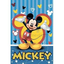 JERRY FABRICS Fleece deka Mickey 2016 polyester 120x150
